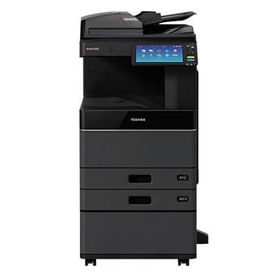 东芝(TOSHIBA)e-STUDIO3018A 黑白复印机 Betway必威打印Betway必威复印网络打印(主机+输稿器+双纸盒+工作台)