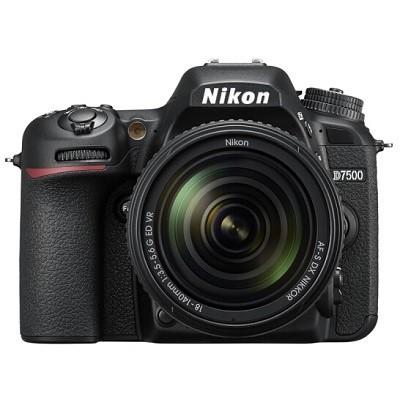尼康(Nikon)D7500单反套机 18-140MM镜头(32G内存+相机包)照相机
